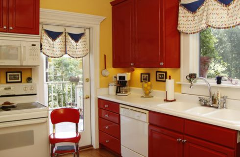 Kitchen Design Pictures Of Red Kitchen Cabinets