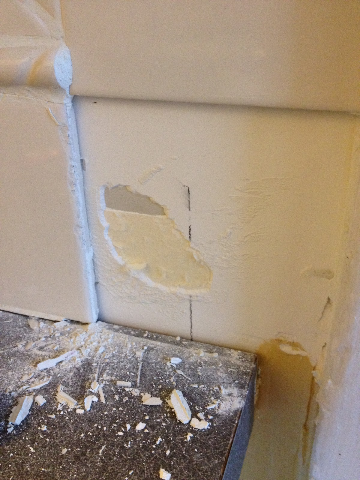650 Square Feet The Consequences Of Chipping A Tile Off Of Your Kitchen Wall