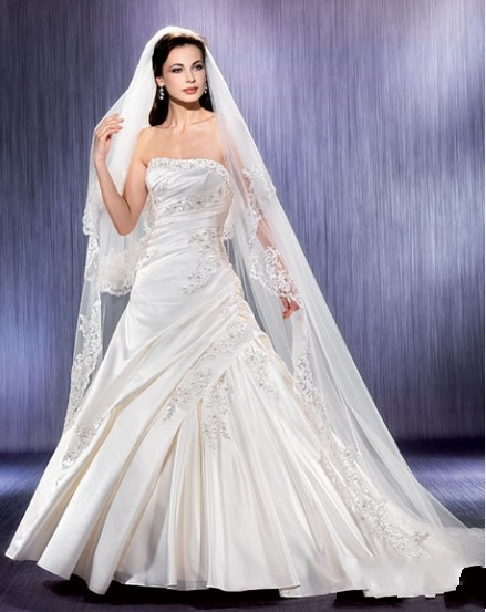 Honey Buy: Long tail wedding dress