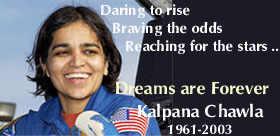 Chawla s first mission to  Kalpana Chawla Quotes