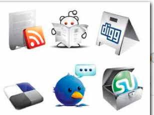 sociala medie-ikoner