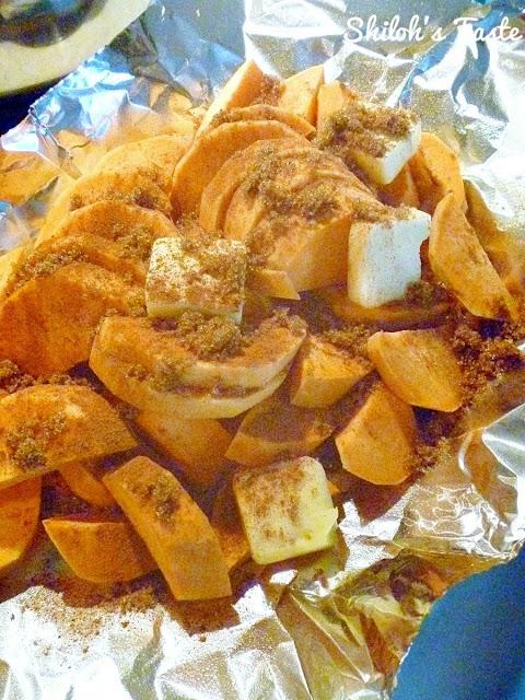 Cinnamon & Sugar Sweet Potatoes | www.shilohstaste.com #easy #sweetpotatoes #autumn