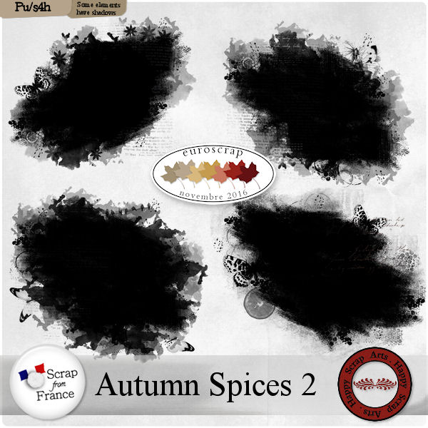 Nov.2016 -Autumn Spices 2 masks de Happy Scrap Arts