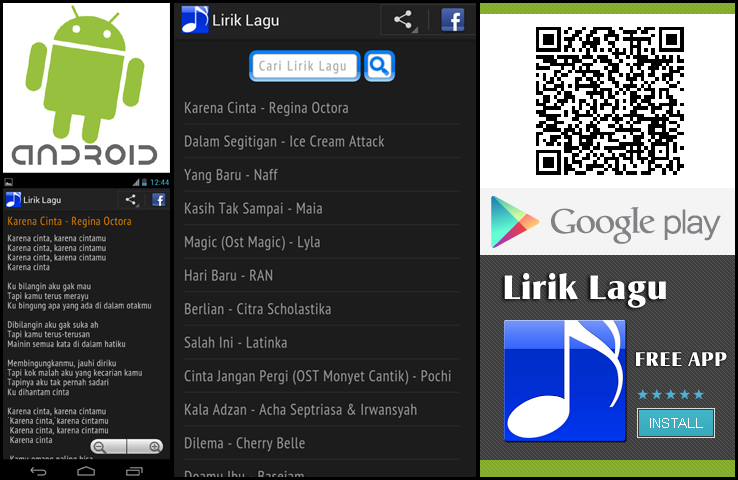 Download Aplikasi Lirik Lagu