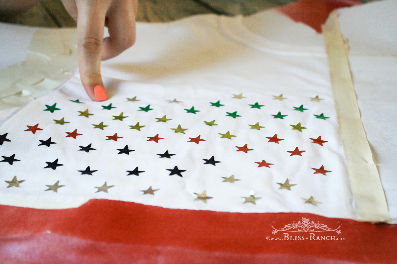 4th of July Fabric Paint t-shirt Bliss-Ranch.com