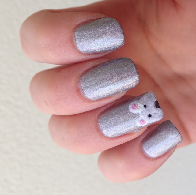 ours polaire nail art