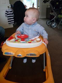 Freddie in his walker