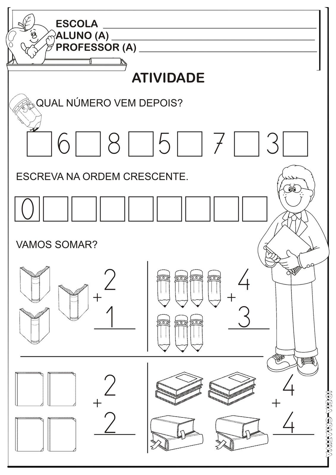 Suficiente Atividade Volta ás Aulas Matemática /1º Ano | Ideia Criativa - Gi  HZ08
