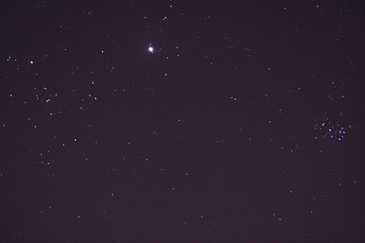 Hyades Jupiter and Pleiades