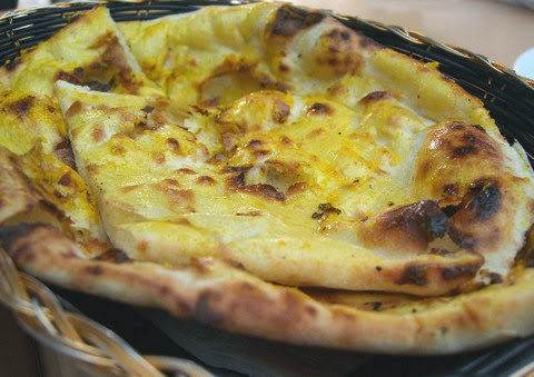 Buttery North Indian Garlic Naan