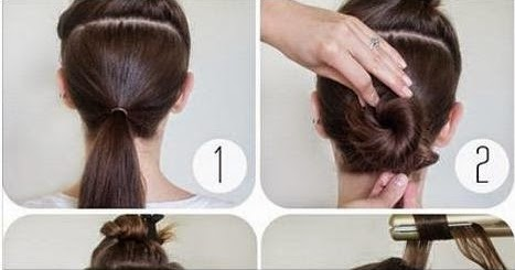 how to make hair bun step by step