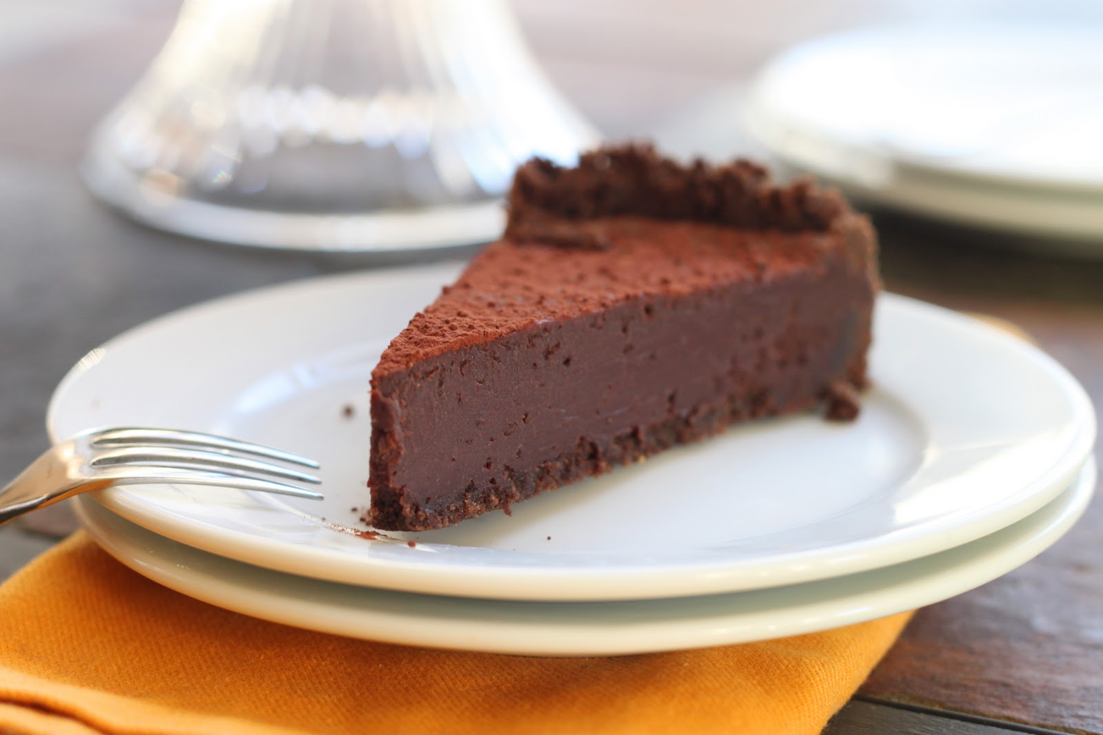 The Cilantropist: Dark Chocolate Truffle Tart
