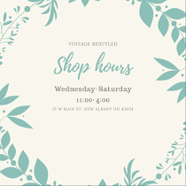 Shop Hours: