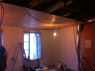 how to install a new wooden ceiling and treat woodworm and rot