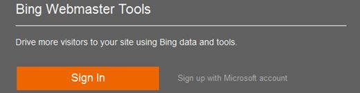 masuk bing webmaster tools