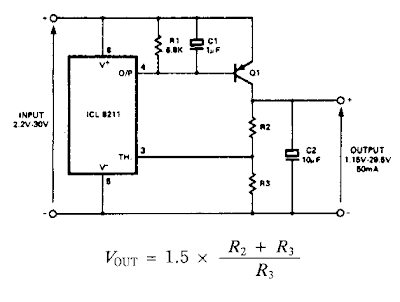 Positive Regulator with pnp Boost Circuit Diagram