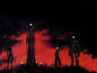 Death Is Coming Dark Gothic Wallpaper
