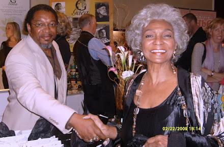 Walter Davis and Nichelle Nichols