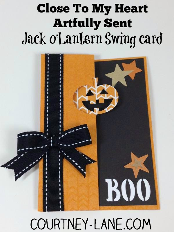 Close To My Heart Artfully Sent Cricut cartridge Jack o'Lantern Swing card