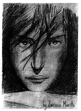 Jeden z wczesnych szkiców mojej córki, bardzo przez mnie lubiany