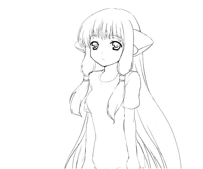 Chobits Atashi Chi Character Coloring Pages