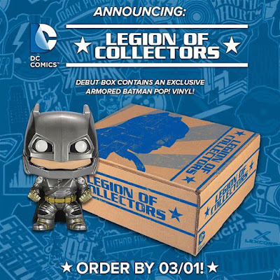 Legion of Collectors DC Comics Subscription Box Exclusive Batman v Superman: Dawn of Justice Armored Batman Pop! Vinyl Figure by Funko