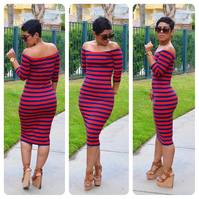 #DIY Striped Dress Using S1613 Modified + Fabric & Pattern ...