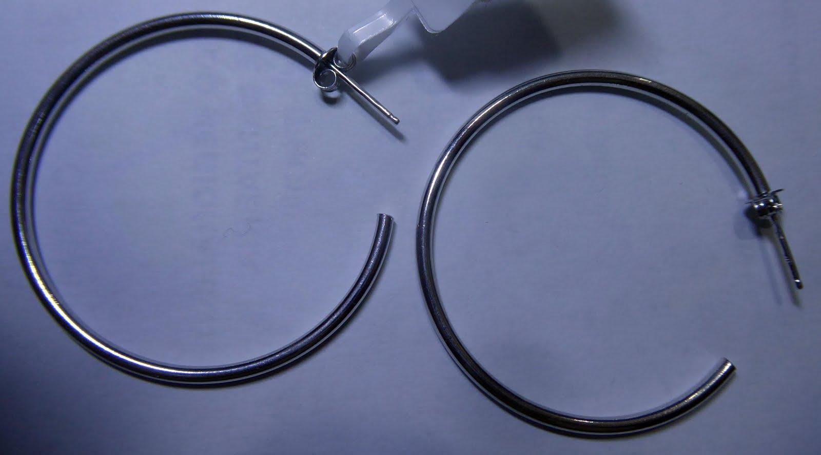 Pendientes de aro de plata con cierre de presión