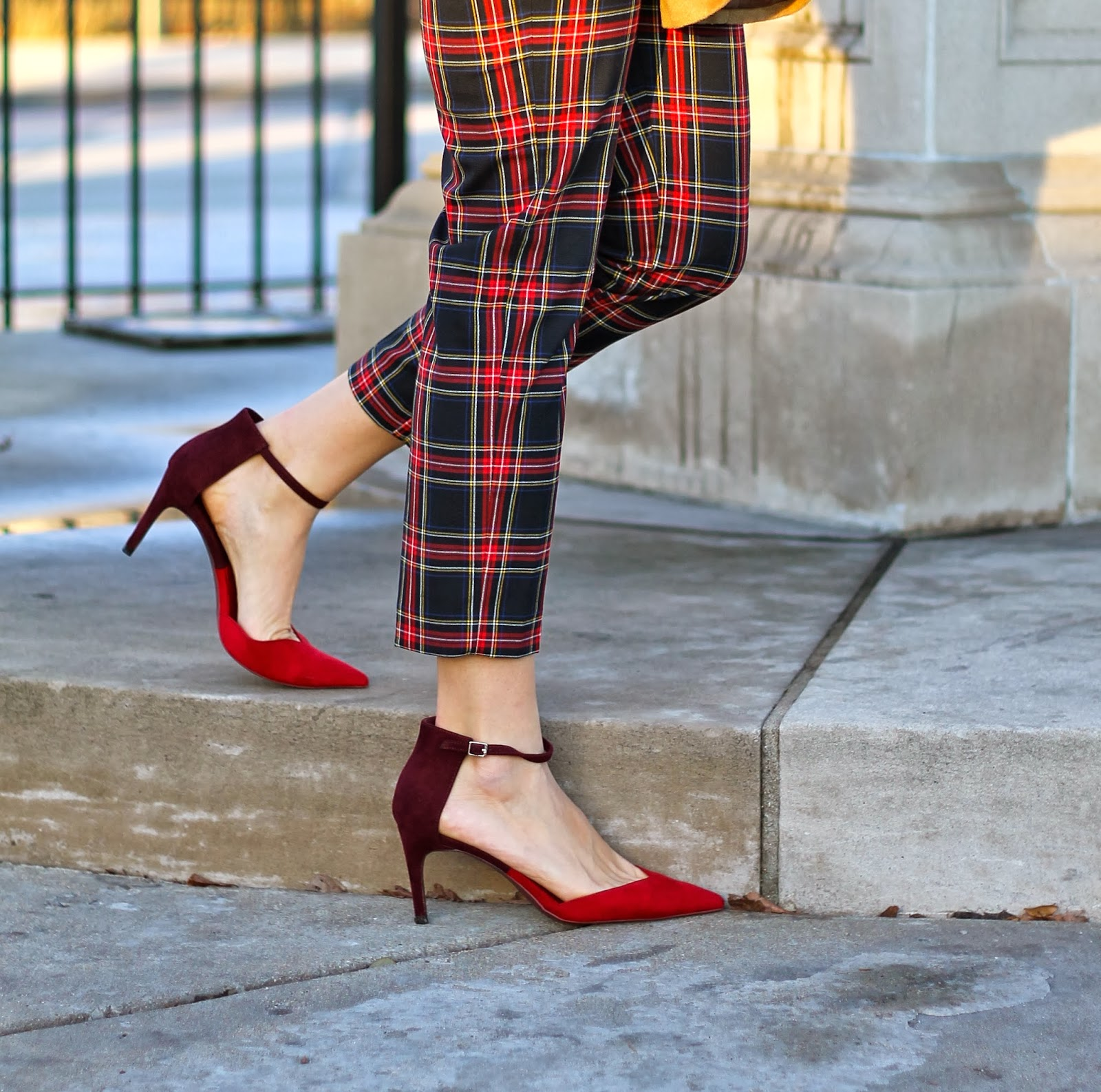 zara, red, two, town, heels