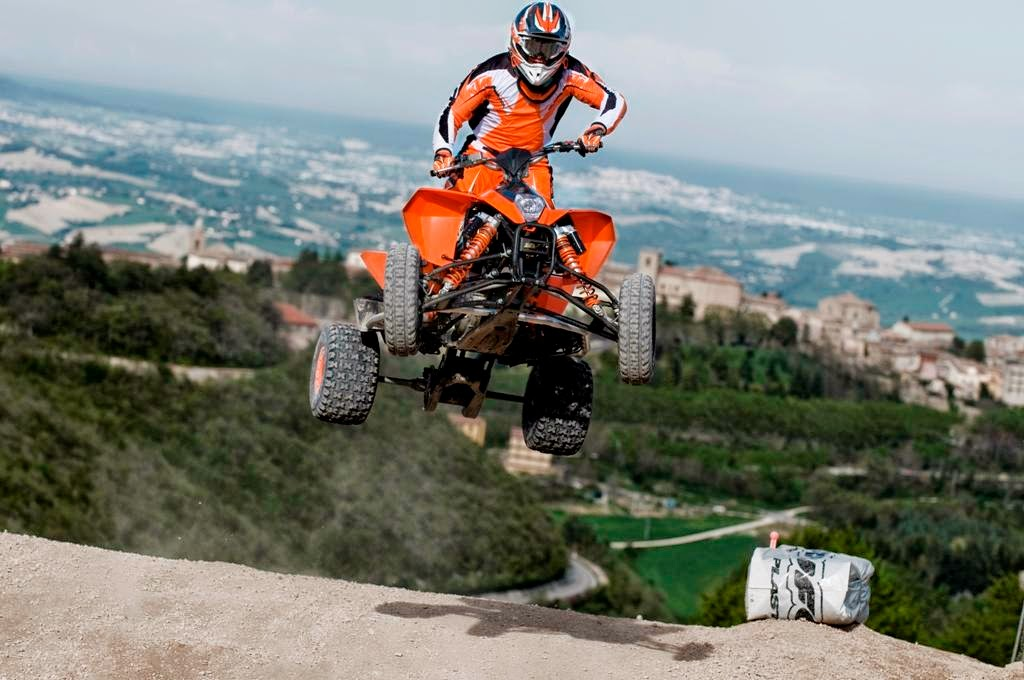 KTM 450 SX ATV Bikes In Air