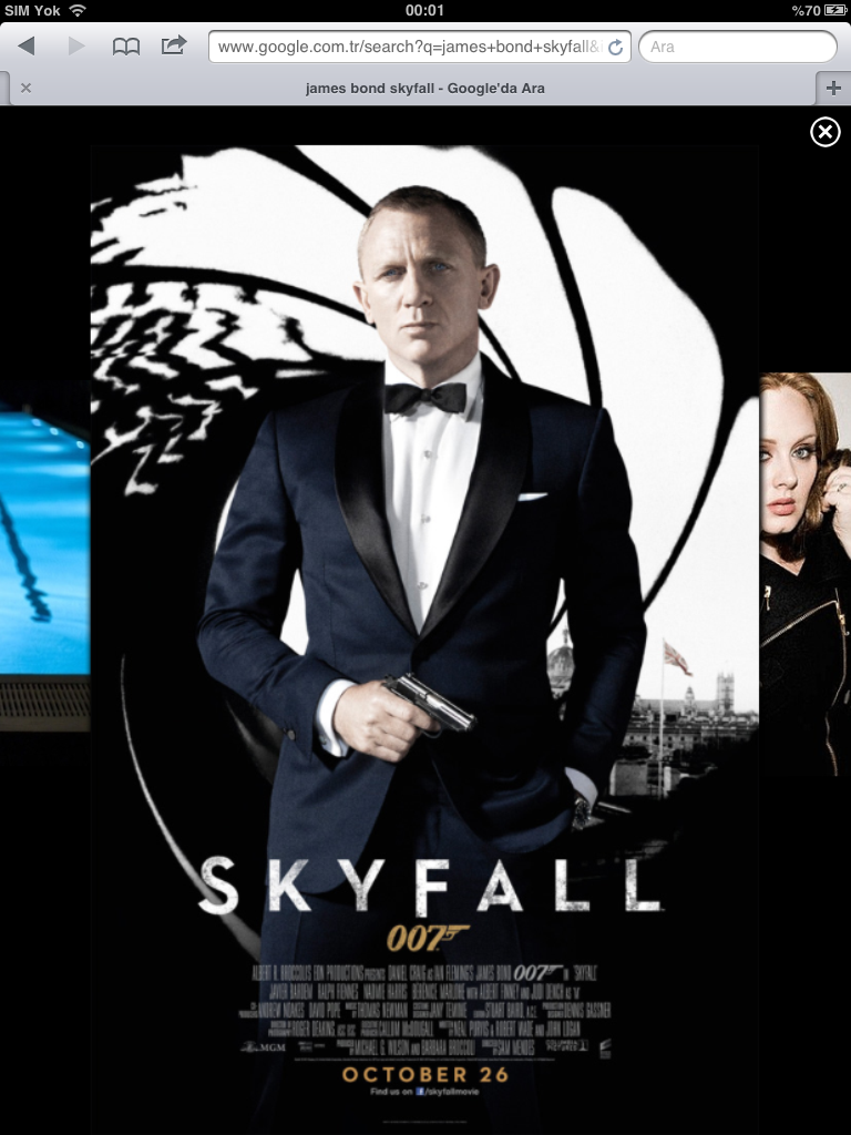 Skyfall Movie Poster 1 of 11  IMP Awards