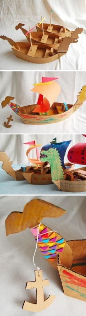 Menciptakan Kapal Kardus
