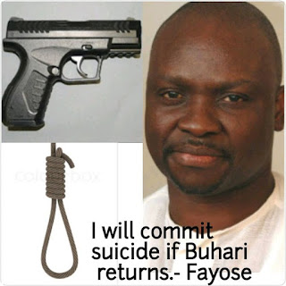 You Promised To Commit Suicide If Buhari Returns, When Will You Die? Nigerians Ask Fayose