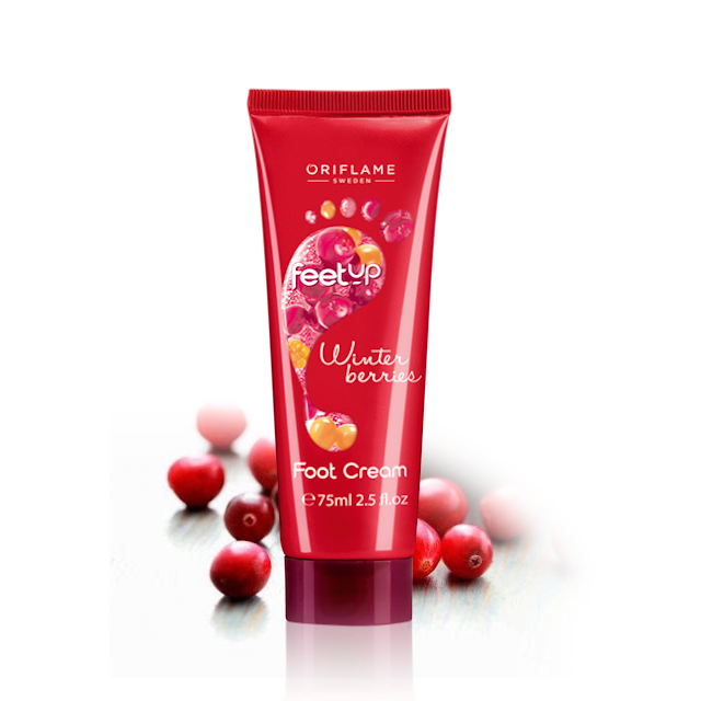 Creme de Pés Winter Berries Feet Up da Oriflame