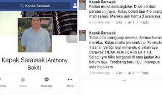 Dua Laporan Polis Dibuat Terhadap Pemilik FB 'Kapak Sarawak'