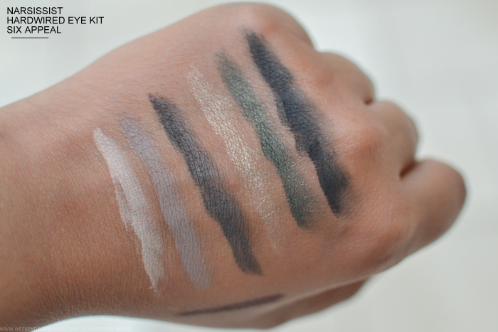 NARSissist Hardwired Eye Kit Fall 2015 Makeup - Six Appeal Eyeshadow Palette - Swatches