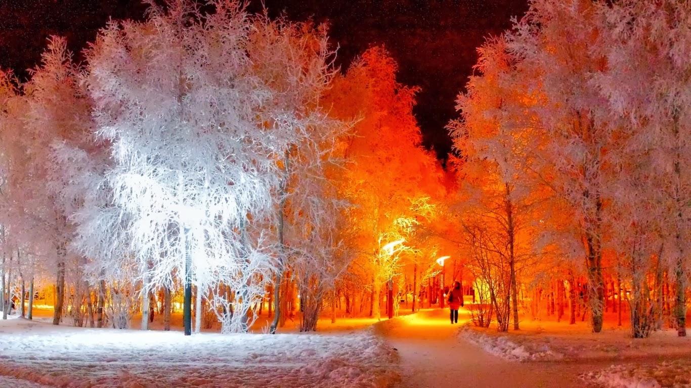 город зимой обои для рабочего стола