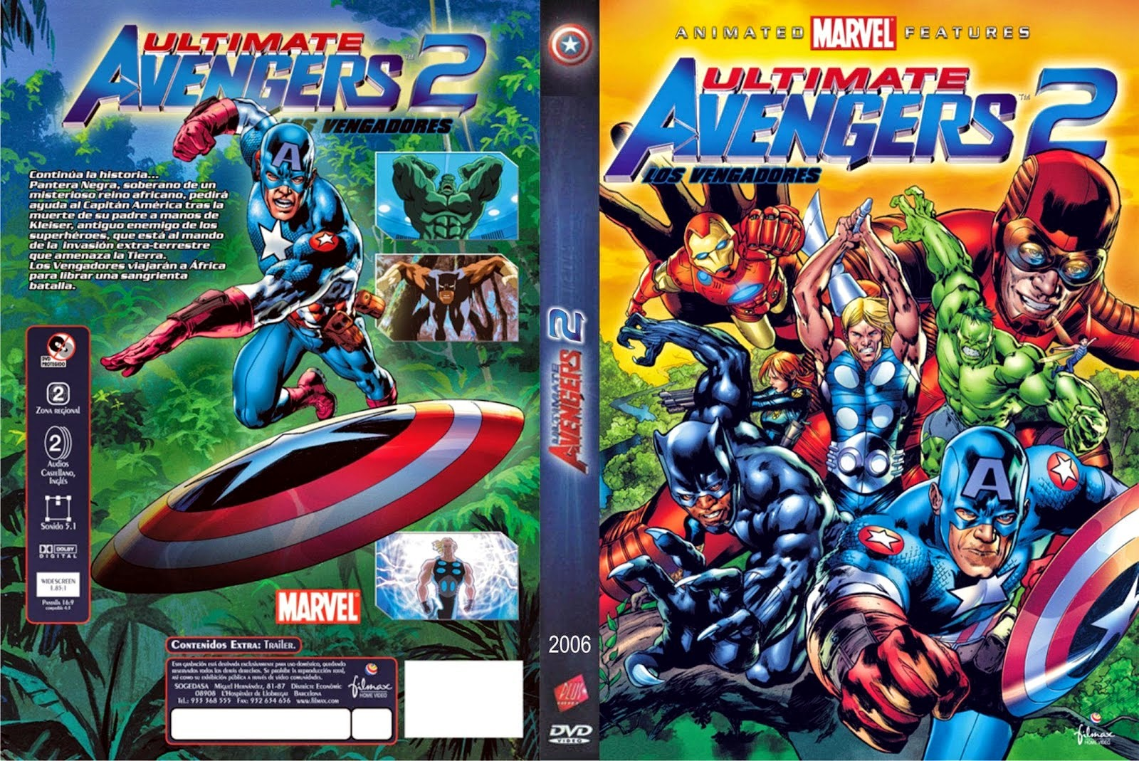 Vengadores 2 (Ultimate Avengers 2 Rise of the Panther) DVD