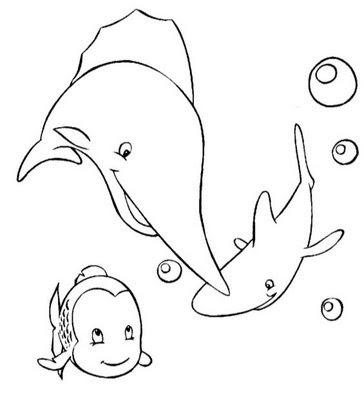 A Desenhar Peixinhos legais colorir