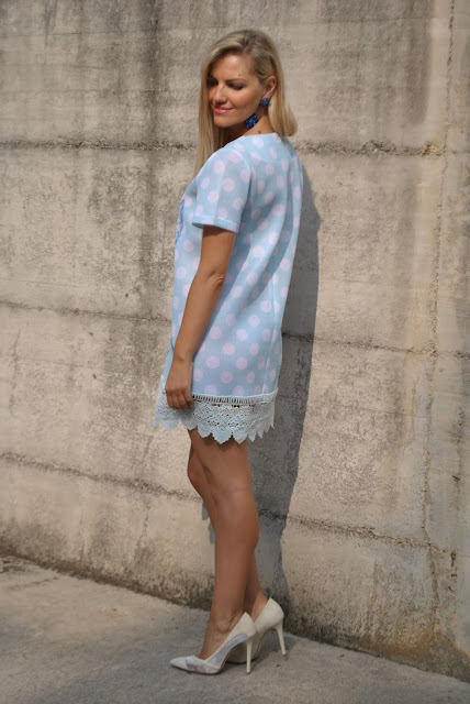 abito stampato a pois abito a pois come abbinare i pois abbinamenti pois mariafelicia magno fashion blogger colorblock by felym fashion blog italiani fashion blogger italiane blog di moda blogger italiane di moda summer outfit polka dots how to wear polka dots polka dots outfit