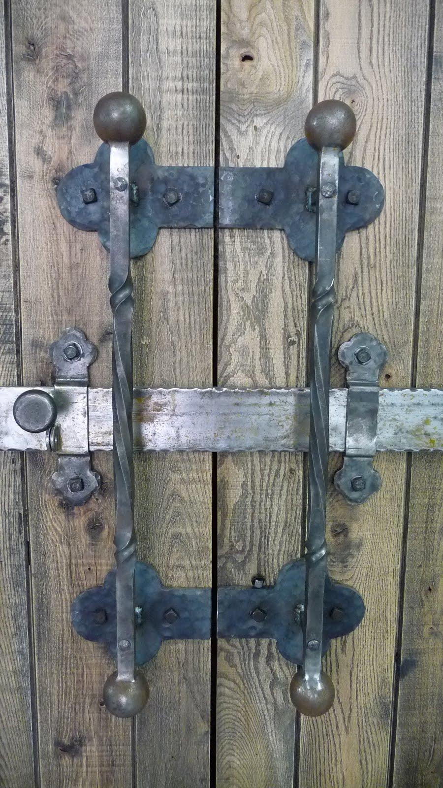 Living Iron Barn Door Pulls And Slide Lock