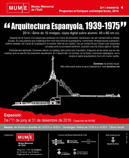 Exposició al MUME, a la Jonquera, de les imatges 'Arquitectura Espanyola, 1939-1975' de Domènec