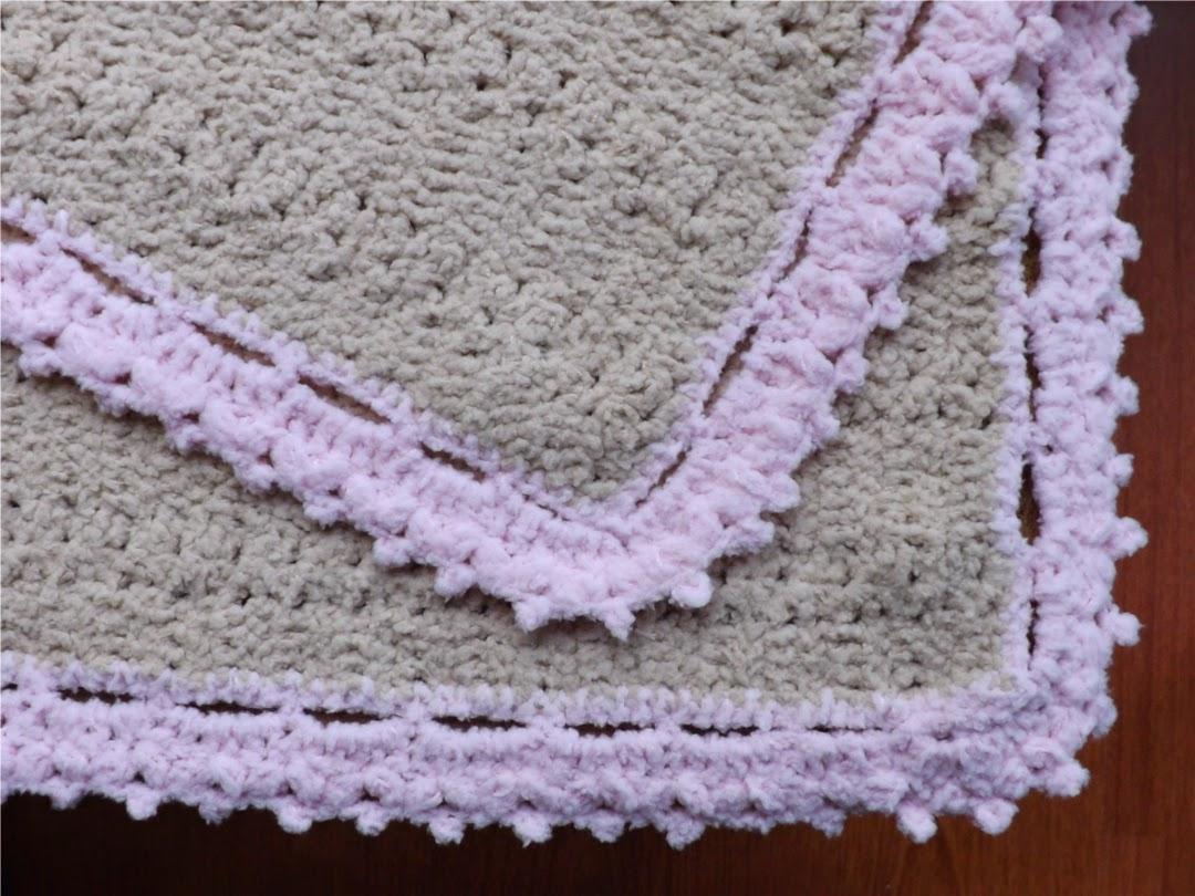 Tejido a crochet manta beb - Manta de bebe a ganchillo ...