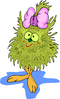 Green Hairy Funny Creature Free Clipart