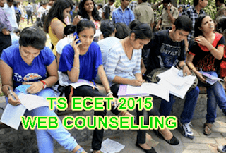 TS ECET Web Counselling Dates 2015, Telangana ECET 2015 Certificate Verification Rank Wise Today, TS ECET 2015 Counselling Schedule Rank wise 1 - Last Rank, TS ECET Certificate Verification Dates, TS ECET Web Options, TS ECET Counselling 2015, TS ECET Seat Allotment Order