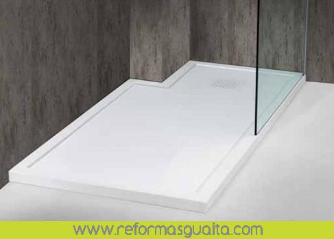 Plato de ducha a medida con lavabos a juego reformas guaita for Platos de ducha de resina a medida