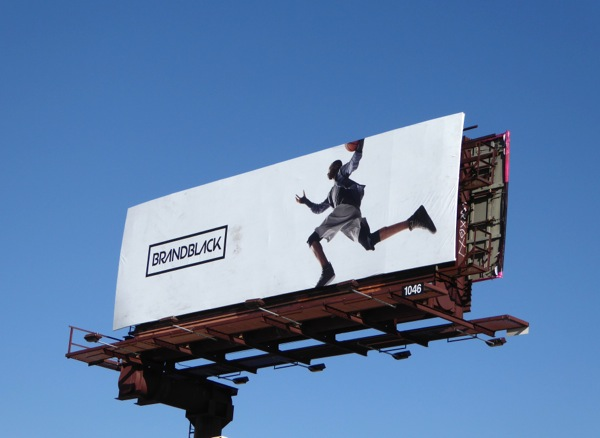 Brandblack footwear billboard
