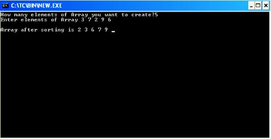 C++ Program to sort an Array by using Bubble sort