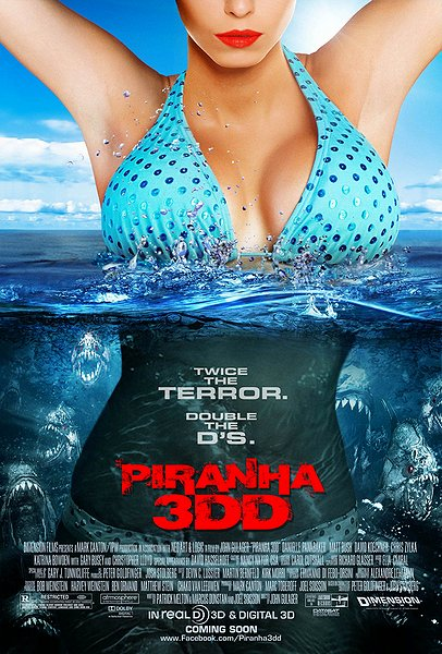 piranha 3dd, movie poster