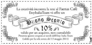 Buono sconto maggio 2011 Etsy Italia Team